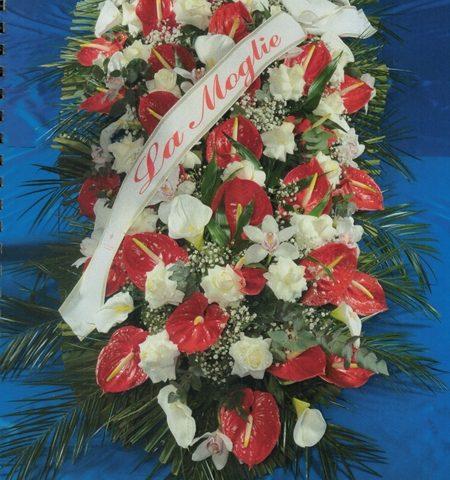 Fiori rossi e bianchi - Gesa Impresa Funeraria Internazionale